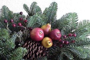 fresh evergreen arrangement